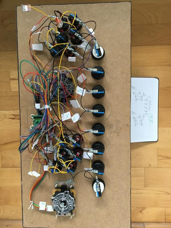 Verkabelung Control-Panel